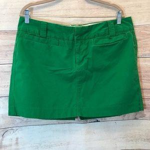 Old Navy Green Chino Plus Size Mini Skirt